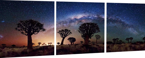 African sunset night sky