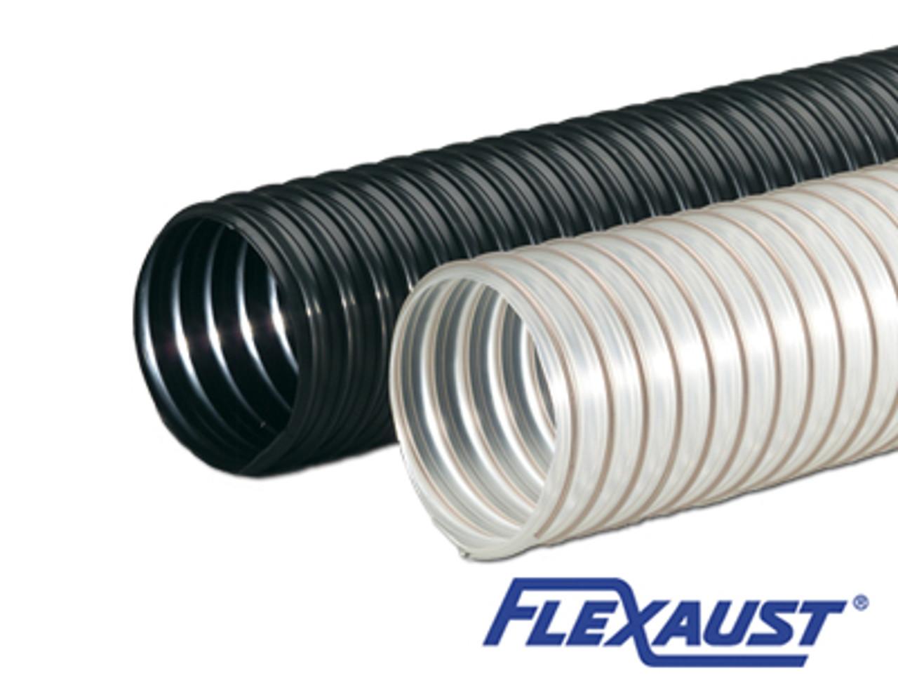 """4/"""" x 12/' Flex-Tube PU Clear Urethane Hose Residential Lawn /& Leaf Vacuum Hose"""