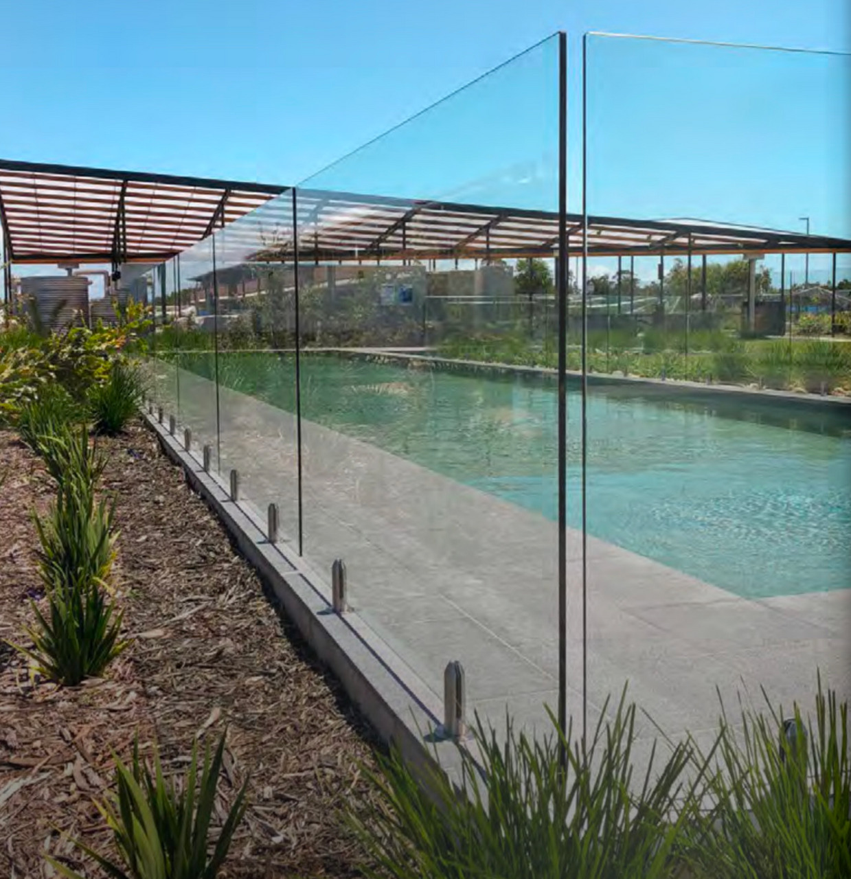 Frameless Glass Pool Fencing Panels 12mm Thick 1200mm High Choose Your Glass Panel Width