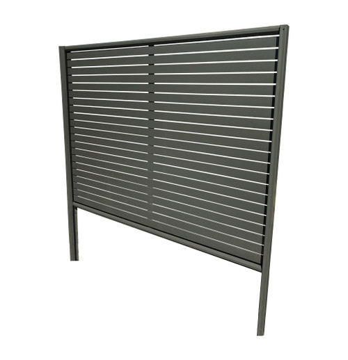 "Colorbond slat fencing panel ""CRAZY"" Package Deal (100% Australian Made) 2.35m long. 2x Posts, 2x Rails, Post Caps and Screws + Slats 70mm with 10mm gap. 25% EXTRA DISCOUNT"