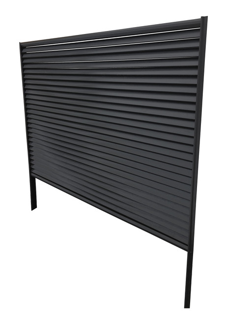 Colorbond Slat Louvre Screen CRAZY Package Deal  fencing panel (100% Australian Made) 2350mm long. 2x Posts, 2x Rails, Screws, Post Caps and fittings + Slats 70mm. 25% EXTRA DISCOUNT