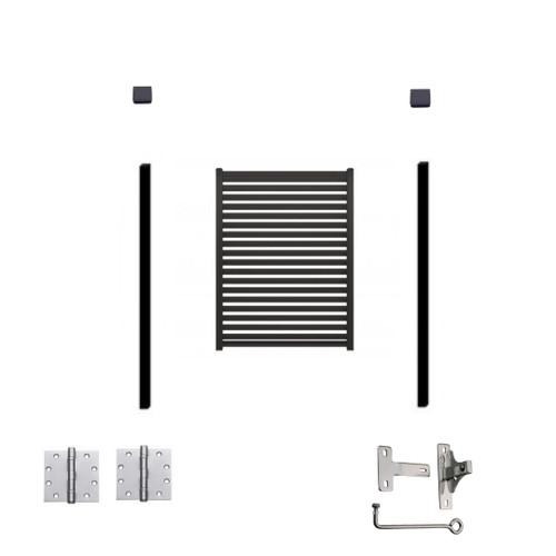 SINGLE GATE CRAZY Package Deal 70mm slat 10mm gap. SLAT Colorbond fencing 100% Australian made. 1x Gate 880mm x (choose height), 2x 60x60 Gate Posts, Latches, Hinges and Screws 25% EXTRA DISCOUNT