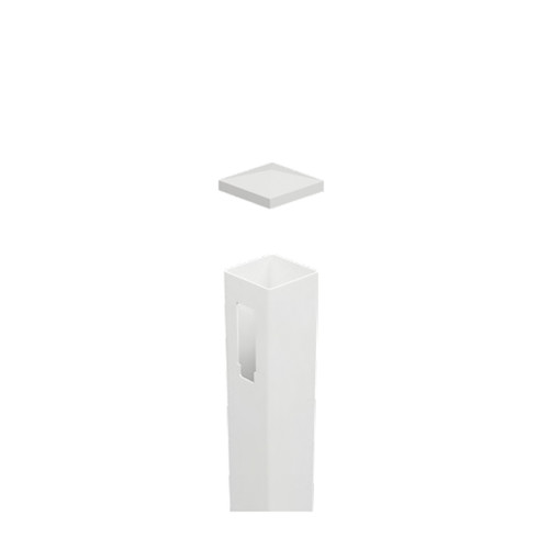 1 Way PVC Post (End Post) Full Privacy - 127mm x 127mm x 2500mm Long. Includes Slimline Post Cap