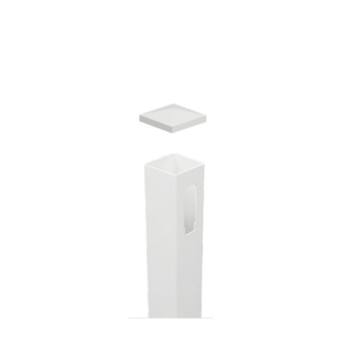 2 Way PVC Post (Inline Post) Full Privacy - 127mm x 127mm x 2500mm Long. Includes Slimline Post Cap