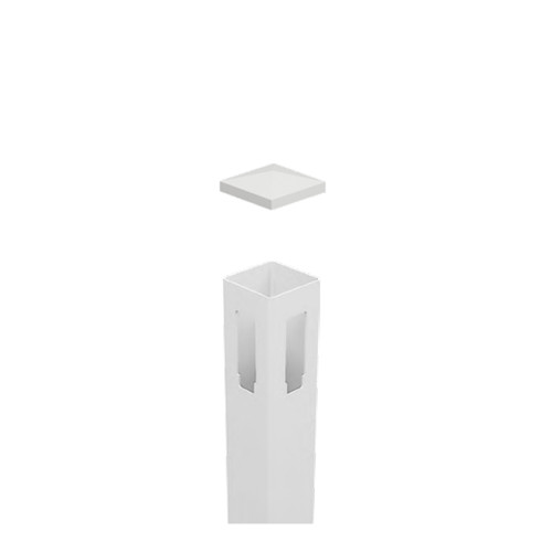 90° PVC Corner Post - Full Privacy - 127mm x 127mm x 2500mm Long. Includes Slimline Post Cap
