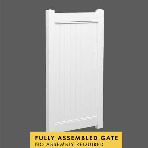 PVC Full Privacy Gate - 1000mm wide x 1850mm high - Fully assembled