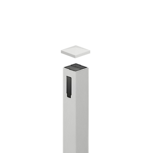 1 Way PVC Gate Post (Includes sturdy aluminium insert) - Full Privacy - 127mm x 127mm x 2500mm Long. Includes Slimline Post Cap.