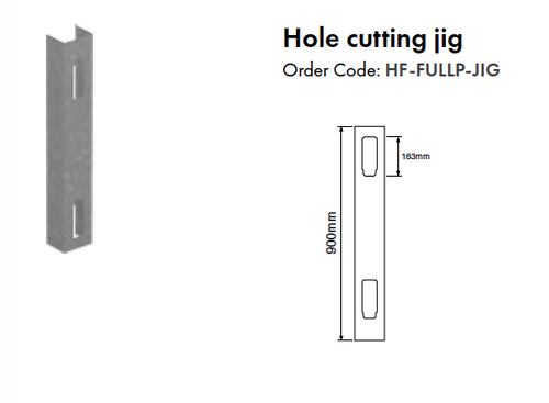 Hole Cutting Jig - Full Privacy