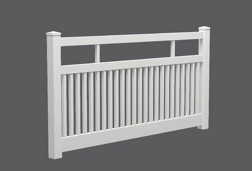 PVC - Semi Privacy Fencing Panel Kit