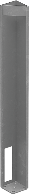 Concealed base plate - 616mm HIGH - suits semi privacy posts (for fixing to concrete slabs or timber)