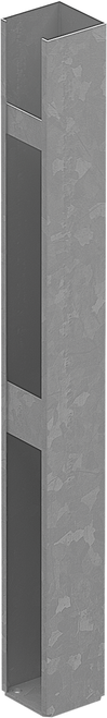 Concealed Base Plate - Heavy Duty - 1150mm high for semi privacy Gates (for fixing to concrete slabs or timber)