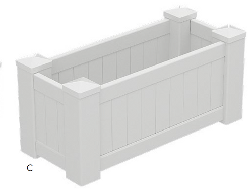 PVC Planter Box Premium Large - 1085mm long x 505mm wide - 500mm high