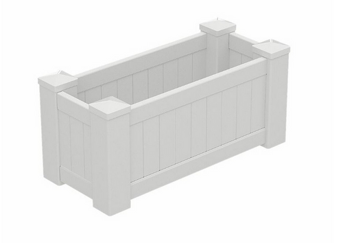 PVC Planter Box Premium Large - 1085mm long x 505mm wide - 500mm high
