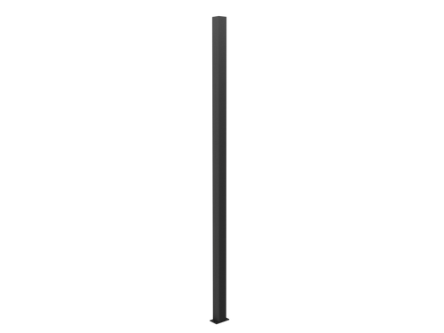 Black Steel 65x65 2.7m Long Post With Post cap. For Security Fencing Only. (bolt down or concrete in the ground)