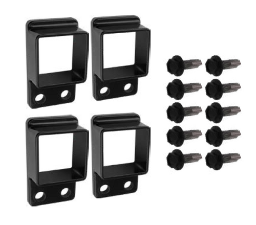 Black Panel Brackets for Security Fencing 4x pack