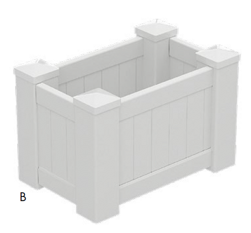 PVC Planter Box Premium Medium - 795mm long x 505mm wide - 500mm high