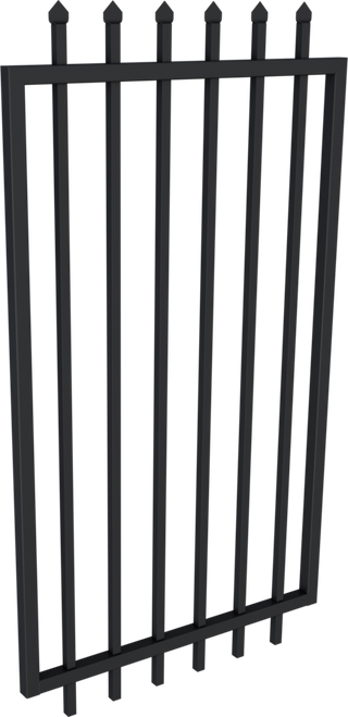 Black Steel Security Gate 975mm wide  - 1.8m high