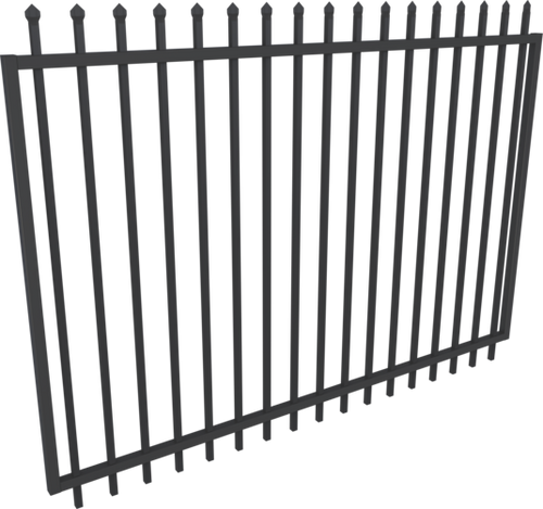 Black Steel Security Gate 2450mm Extra wide - 1.8m high