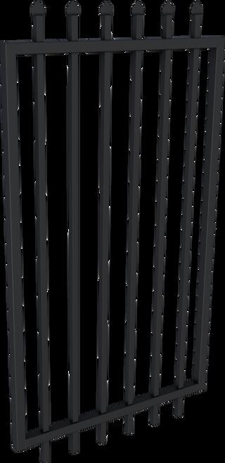 Black Steel Security Gate 975mm wide  - 2.1m high