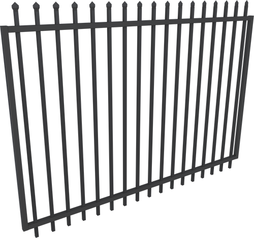 Black Steel Security Gate 2450mm Extra wide - 2.1m high