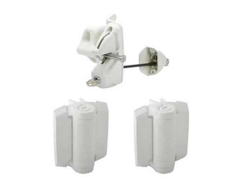 PVC White Style - Lokk Latch deluxe & TrueClose Hinge Pair Heavy Duty