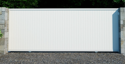 PVC Full Privacy Sliding Gate Kit - 1800m high x Width 2000 - 5500mm Wide - Made To Order