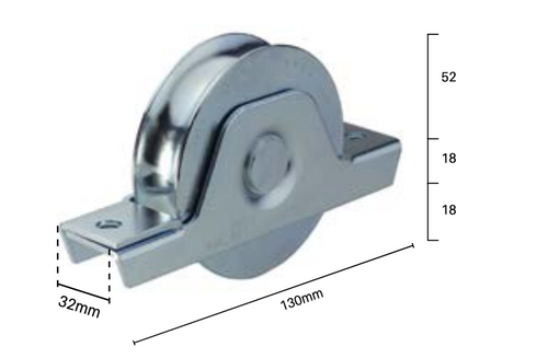 Sliding Gate Wheels (Pair of 2) (Includes pack of 4 heavy duty screws)