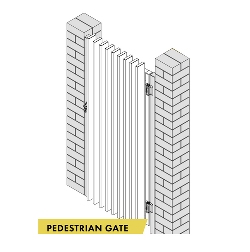 Gate 1500mm wide x 1200mm high (Not Pool Compliant) Use 2x To Make A Double Gate