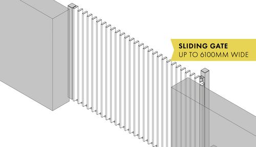 Batten System Sliding Gate Kit - 2000mm-6100mm Wide (Made To Order)