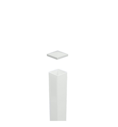 Blank Post 'No Slot Holes' - - 102mm x 102mm x 2100mm Long. Includes Slimline Post Cap