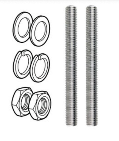 2x M12x120mm Threaded Rod for use with Face Mounted Spigots (Not for use on base plate spigots)
