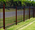 Black Security Fence Panel 2.1m high x 2.4m Long - Galvanised Steel Powdercoated