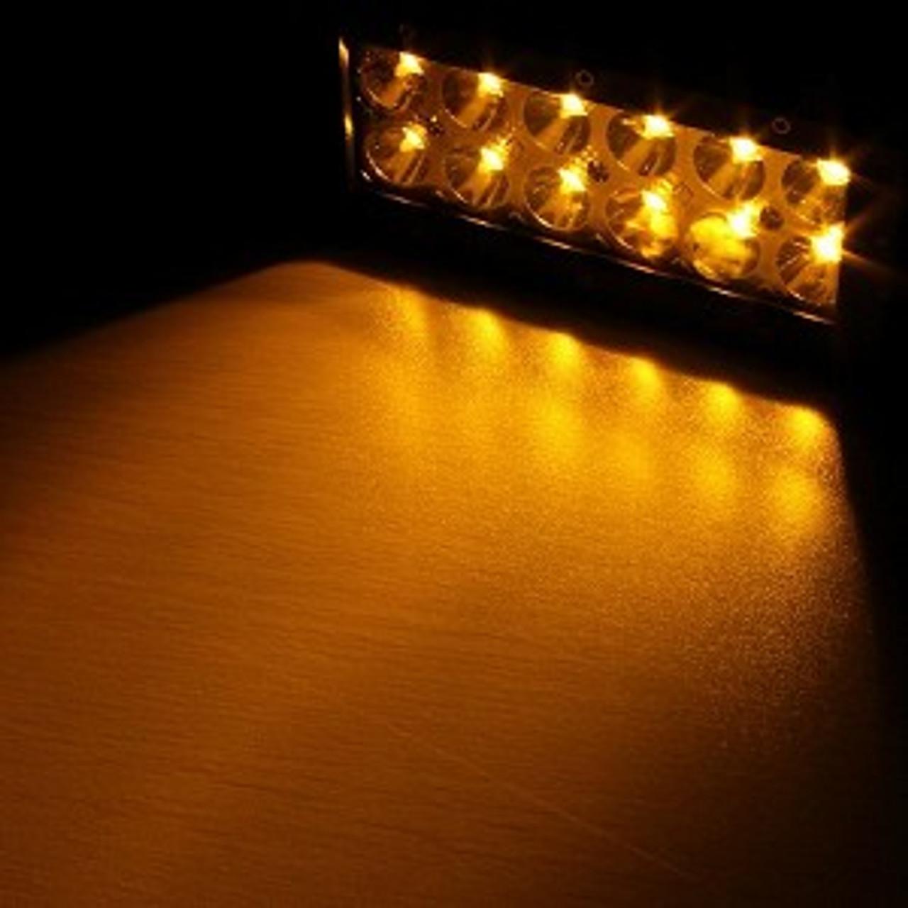 7 5 36w Amber White Led Light Bar