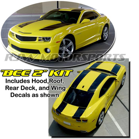 """Bumble Bee 2"" Style Stripes for Camaro '09-'15"