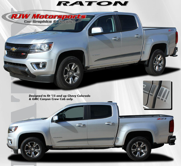 Raton Rocker Decals for '15-Up Chevy Colorado
