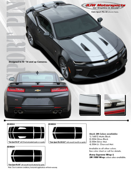 Racing Stripes w/ Pinstripe for 2016-2018 Camaro