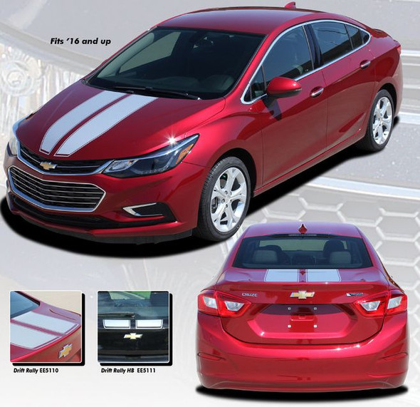 Drift Rally Stripes for Chevy Cruze -'16-'19