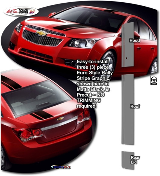 Euro Style Rally Stripes for Chevy Cruze - '11-'15