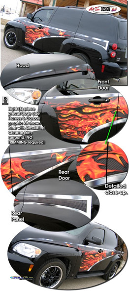 Side Flames Decals for 06-11 HHR