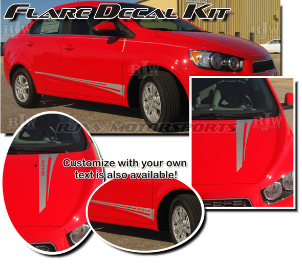 Flare Decal Kit for Chevy Sonic