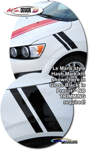 Le Mans Style Hash Mark Decal for Chevy Sonic