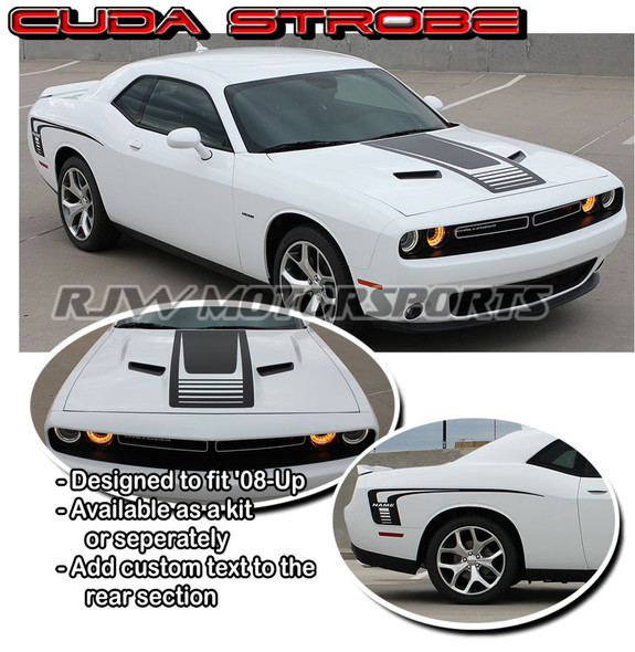 Cuda Strobe Stripes for '08-'18 Challenger