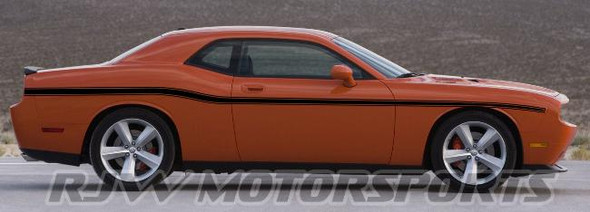 Dodge Challenger Lower Body Stripes