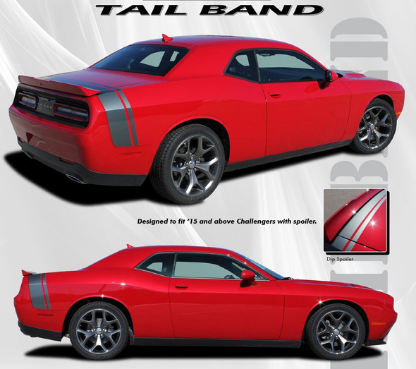 Scat Pack Style Trunk Stripes for Challenger '15-Up