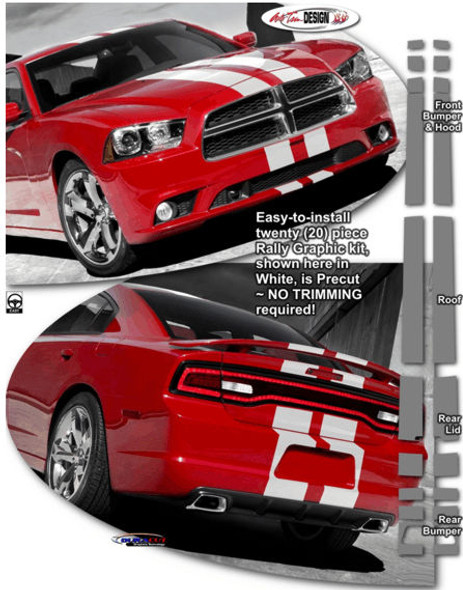 Rally Stripes Kit 2 for '11-'14 Dodge Charger