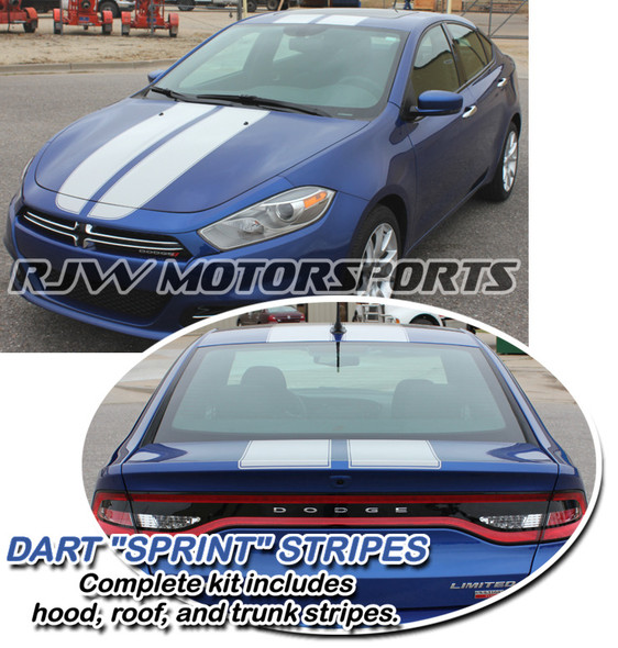 Racing Stripes 2 for '13-'16 Dodge Dart