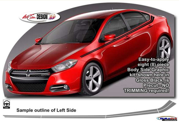 Side Decal Kit for '13-Up Dodge Dart