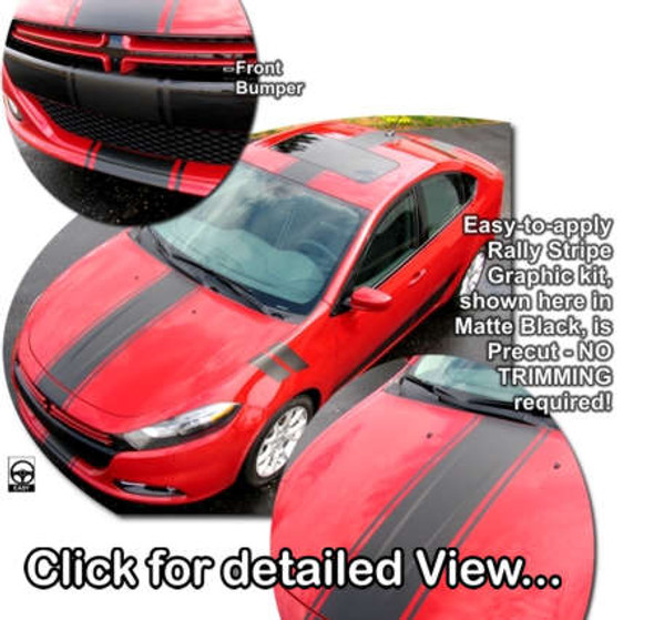 Center Rally Stripes for '13-'16 Dodge Dart