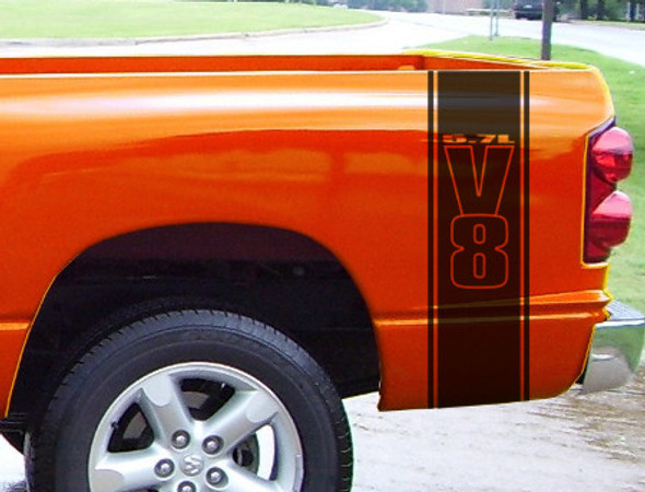 Bed Stripes Decal 2 for Dodge Ram Hemi