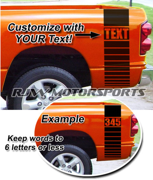 Bed Stripes Decal 6 - 345 for Ram Hemi